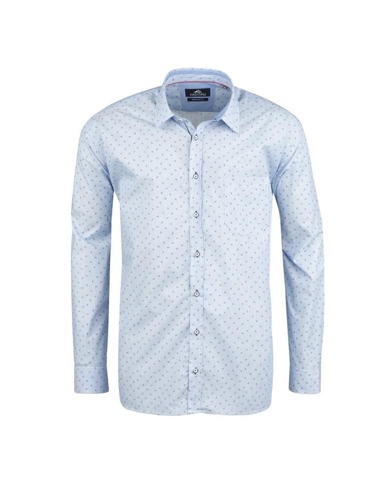 Chemise bleue: grande taille du 2XL au 6XL