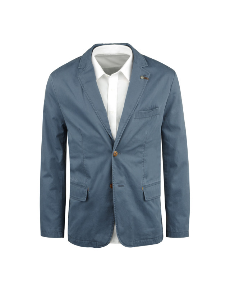 Veste coton bleu indigo: grande taille du 60 au 70