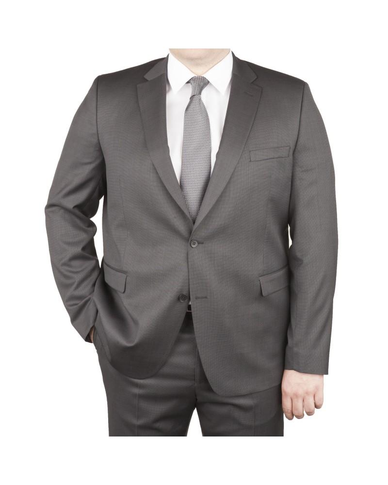 Veste de costume anthracite: grande taille du 58 au 70