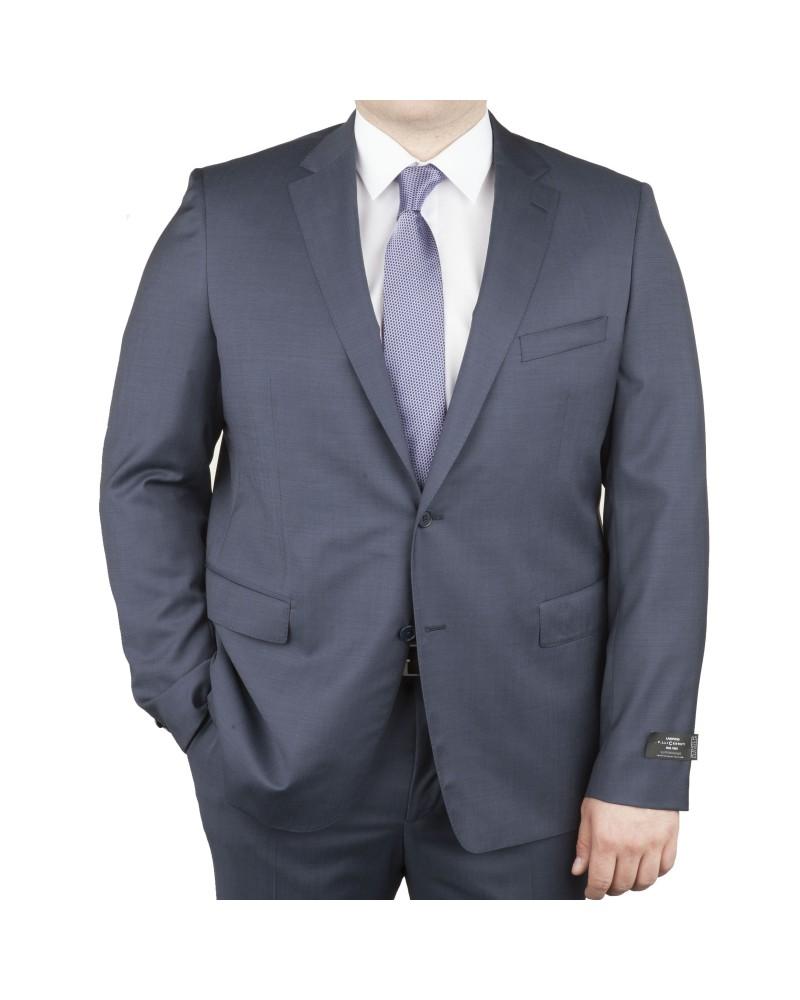 Veste de costume Cerruti bleu gris: grande taille du 58 au 70