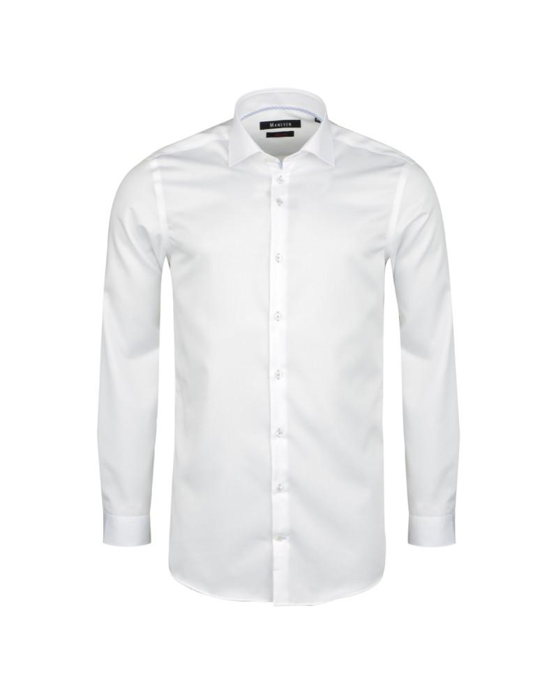 Chemise blanc cintrée: manches extra-longues 72cm