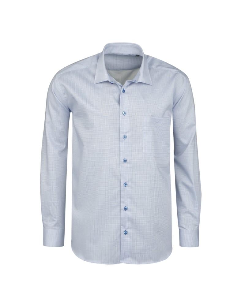 Chemise mini carreaux bleu: grande taille du 44 (XL) au 50 (4XL)