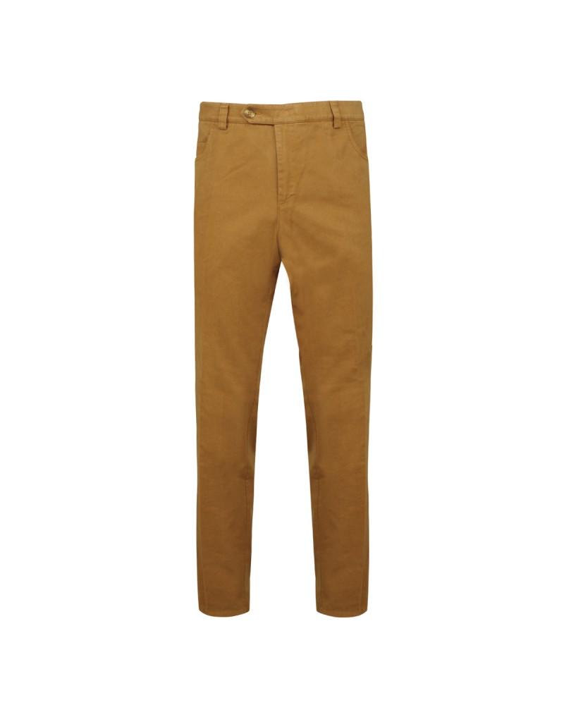 Pantalon Chino confort stretch noisette: grande taille jusqu'au 72FR (56US)
