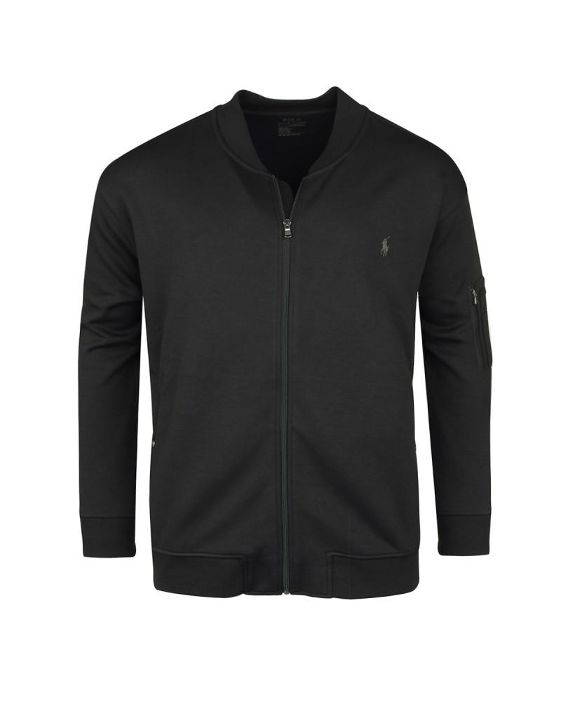 Sweat zippé noir: grande taille du 1XL au 5XL