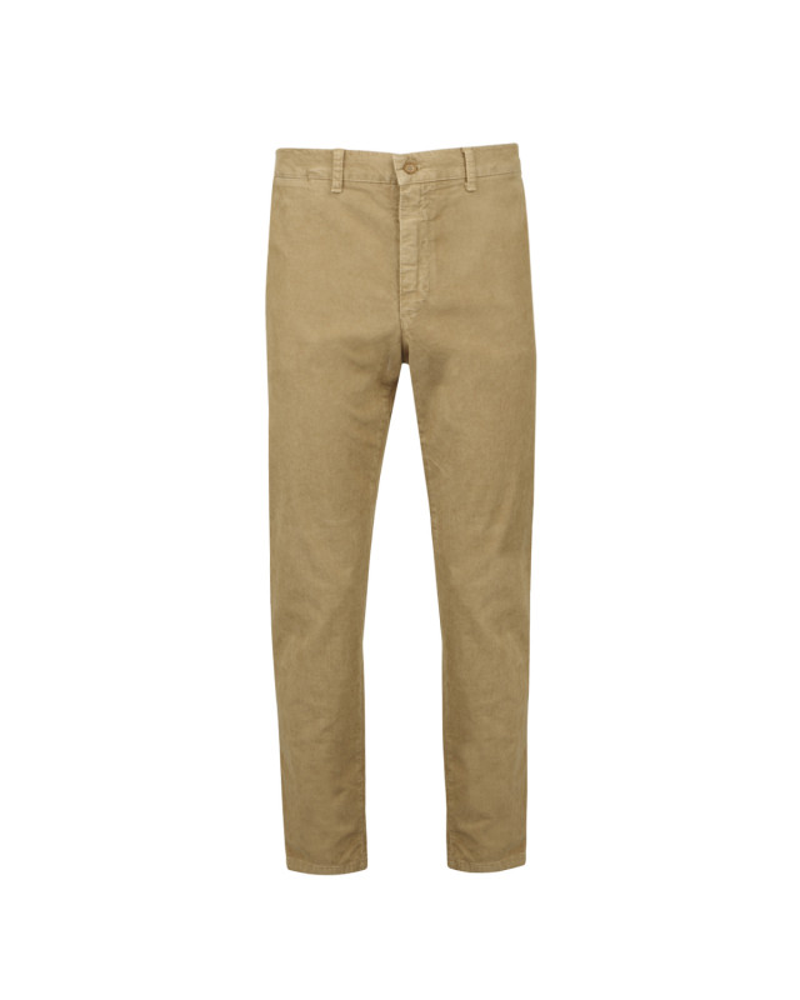 Pantalon chino velours beige: grande longueur de jambe 38US