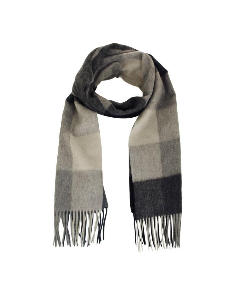 Echarpe laine noir: taille unique