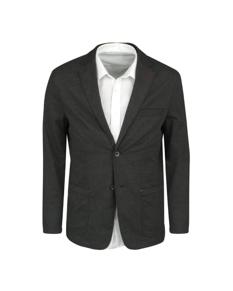 Veste aspect lainage anthracite: grande taille du 60 au 70