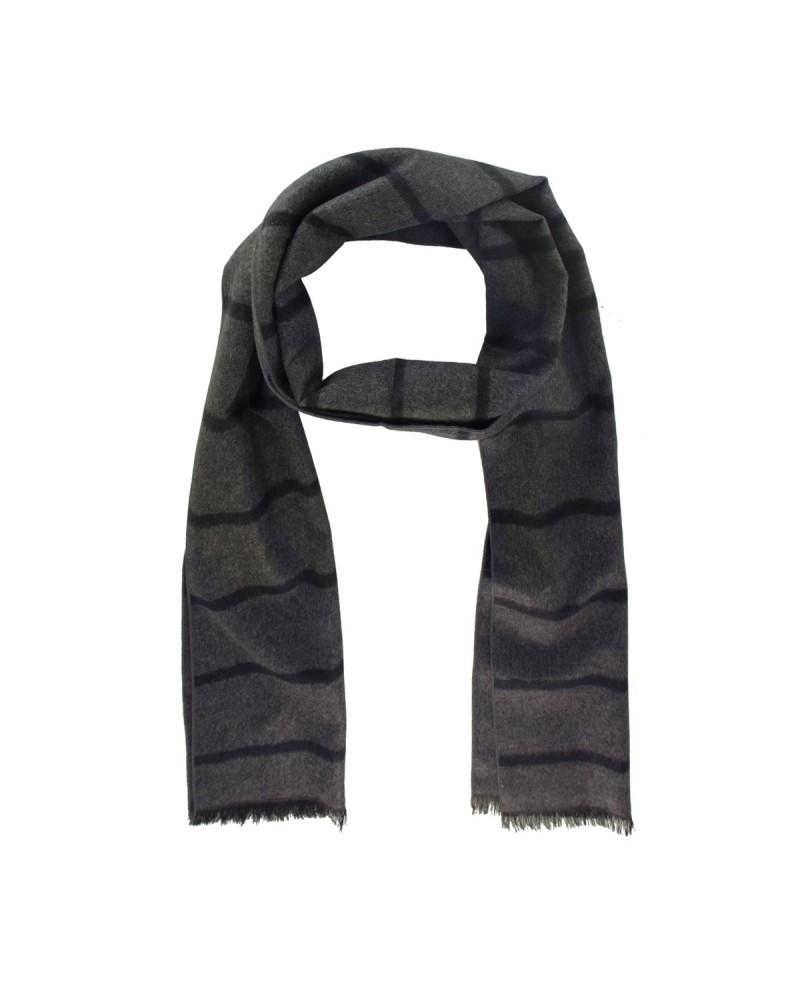 Echarpe soie noir: taille unique