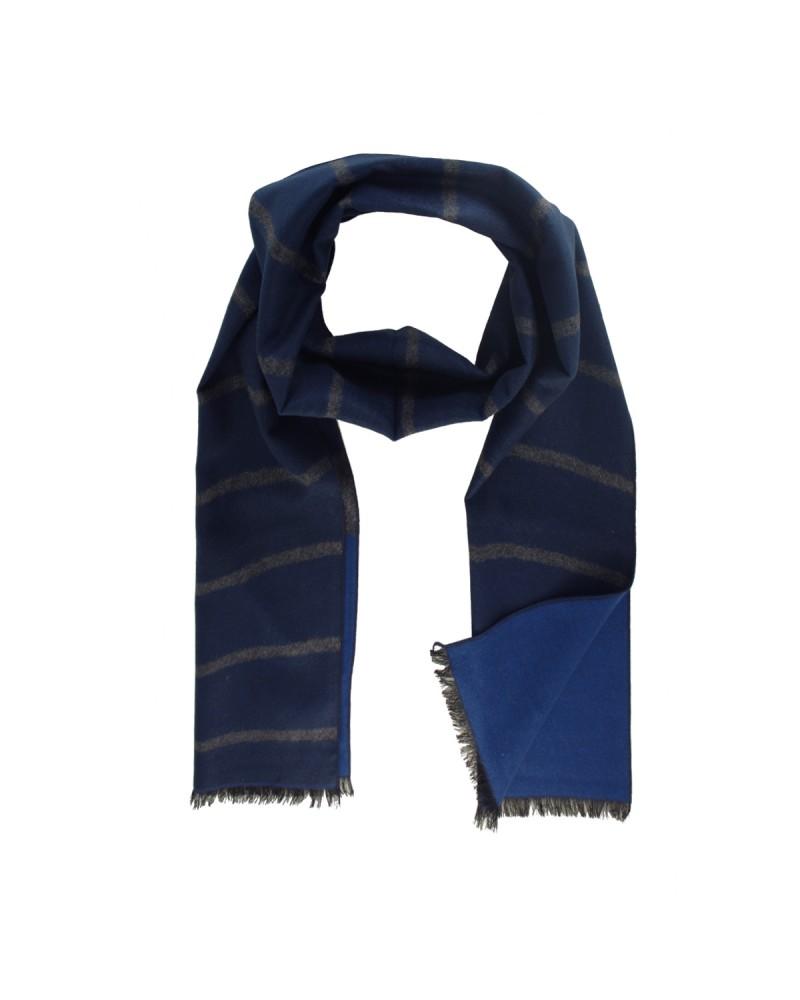 Echarpe soie bleu: taille unique
