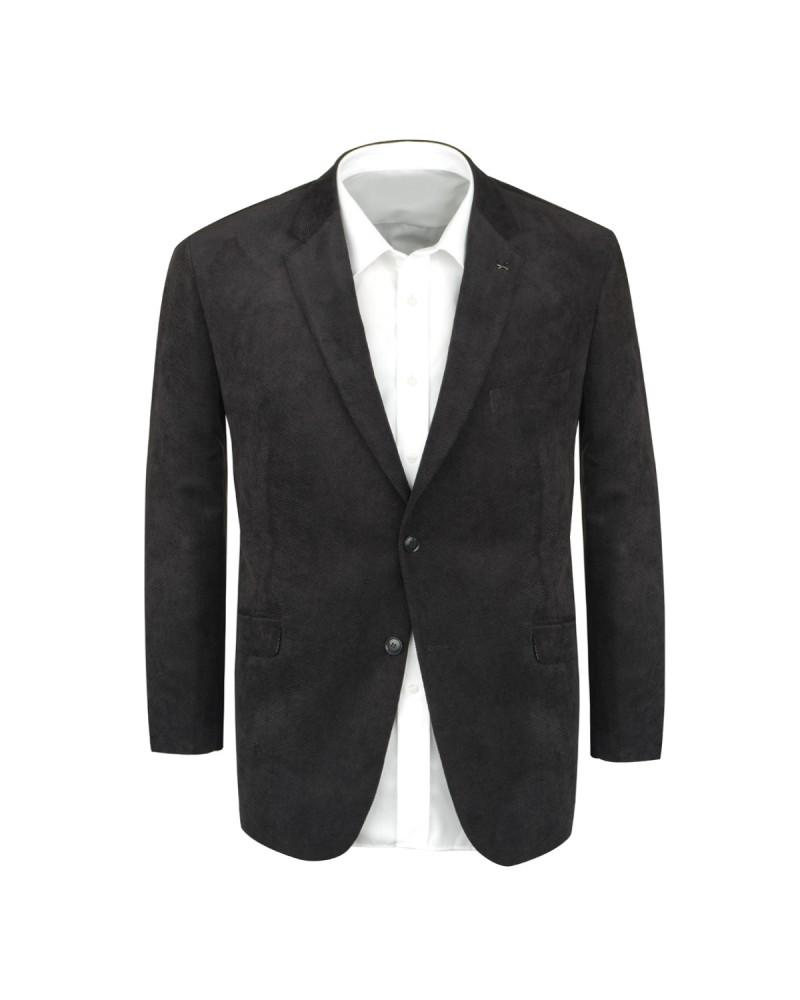 Veste en velours noire : grande taille du 64 au 78