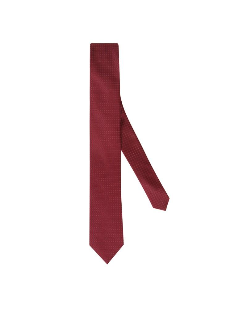 Cravate soie extra-longue 160 cm fantaisie bordeaux