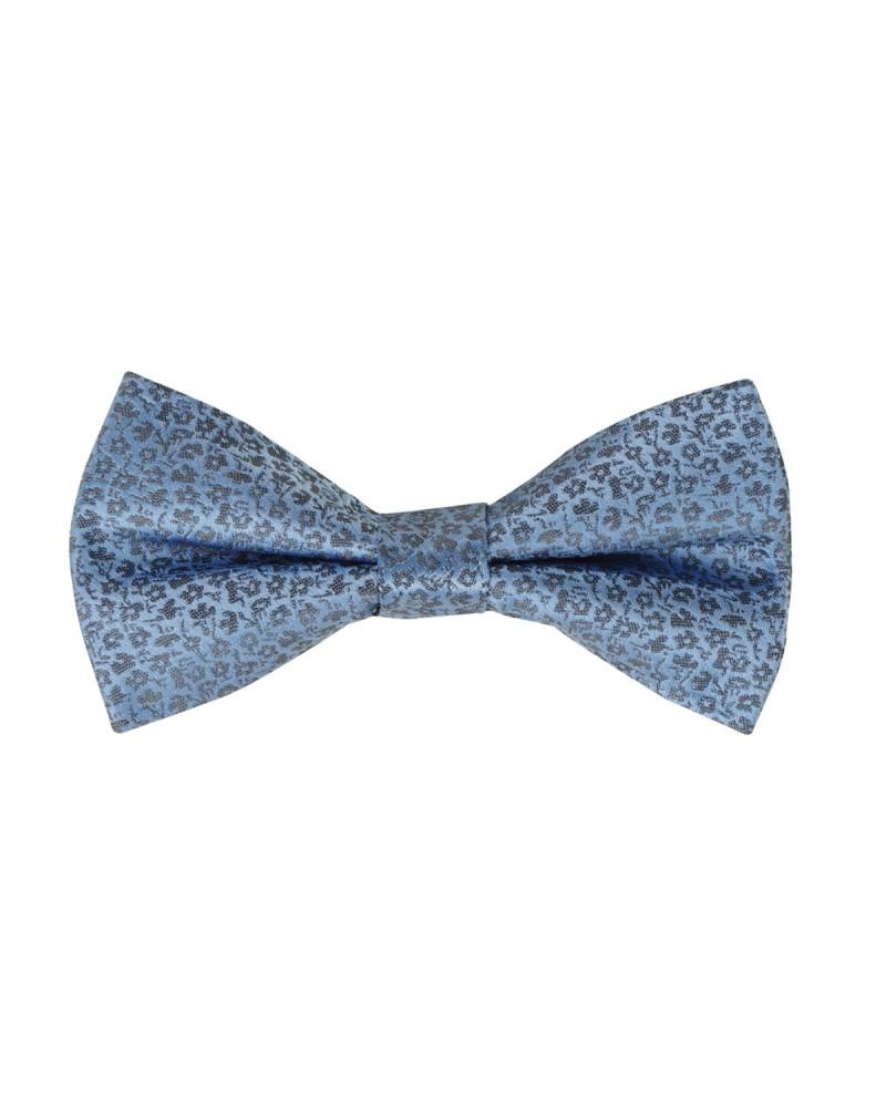 Nœud papillon en soie fantaisie bleu
