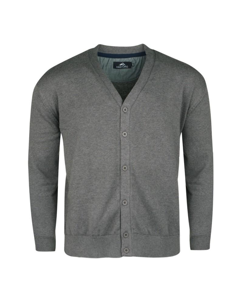 Cardigan boutonné gris: grande taille du 2XL au 6XL
