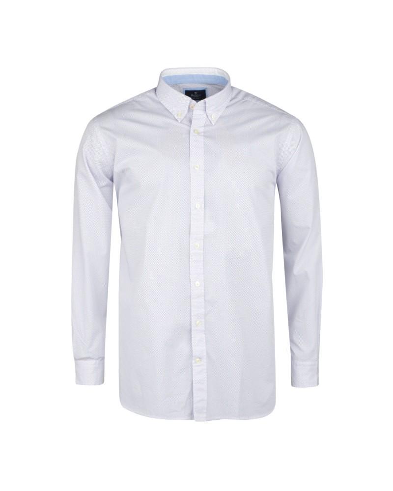 Chemise à pois blanche: grande taille du 0XL au 3XL