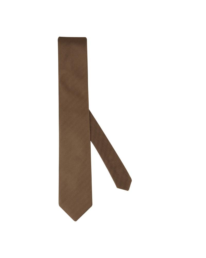 Cravate extra-longue 160 cm marron