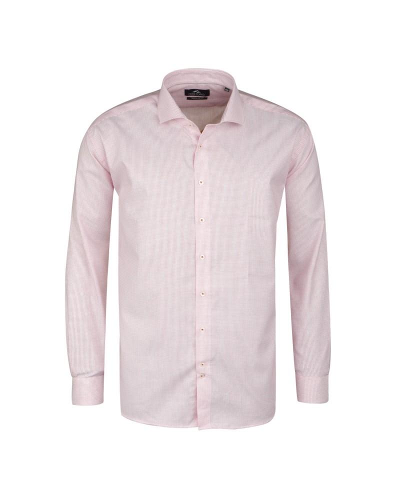 Chemise à pois rose : grande taille du 44 (XL) au 50 (4XL)