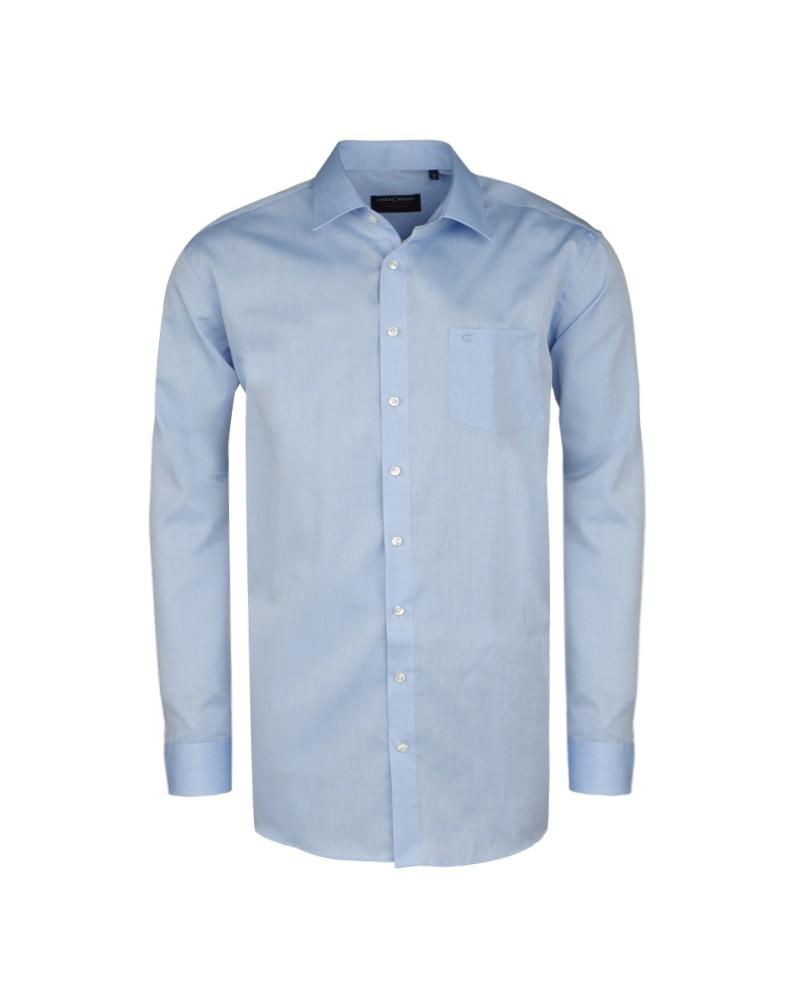 Chemise bleu (Confort Fit)  : manches extra longues 72 cm