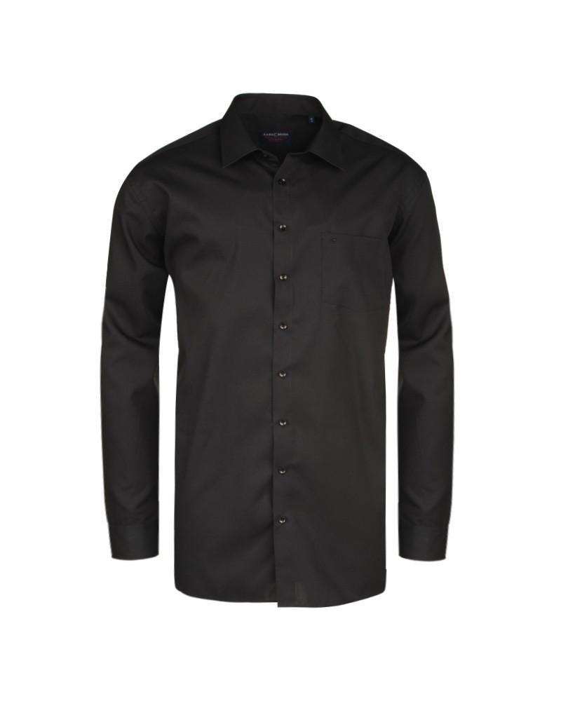 Chemise noir (Confort Fit)  : manches extra longues 72 cm