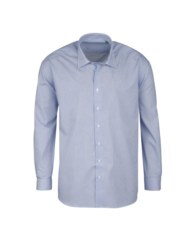 Chemise rayures bâton bleu: grande taille du 44 (XL) au 50 (4XL)