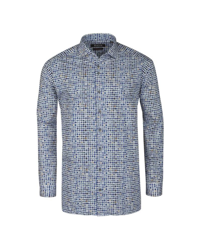 Chemise bleu cintrée: manches extra-longues 72cm