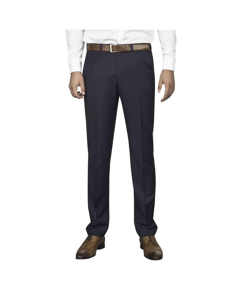 Pantalon de costume bleu à pois  pour homme grand : du 44 au 52/54