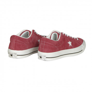 Chaussures Converse One Star OX basses grande taille rouges en daim