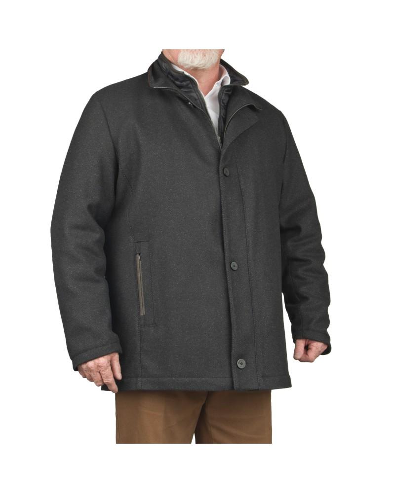 Parka drap de laine gris: grande taille du 2XL au 7XL