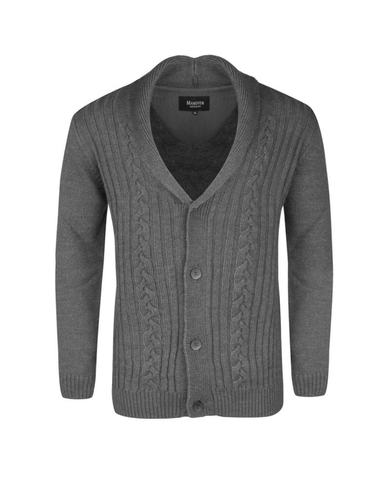 Cardigan en laine gris pour Homme Grand : du M au 2XL