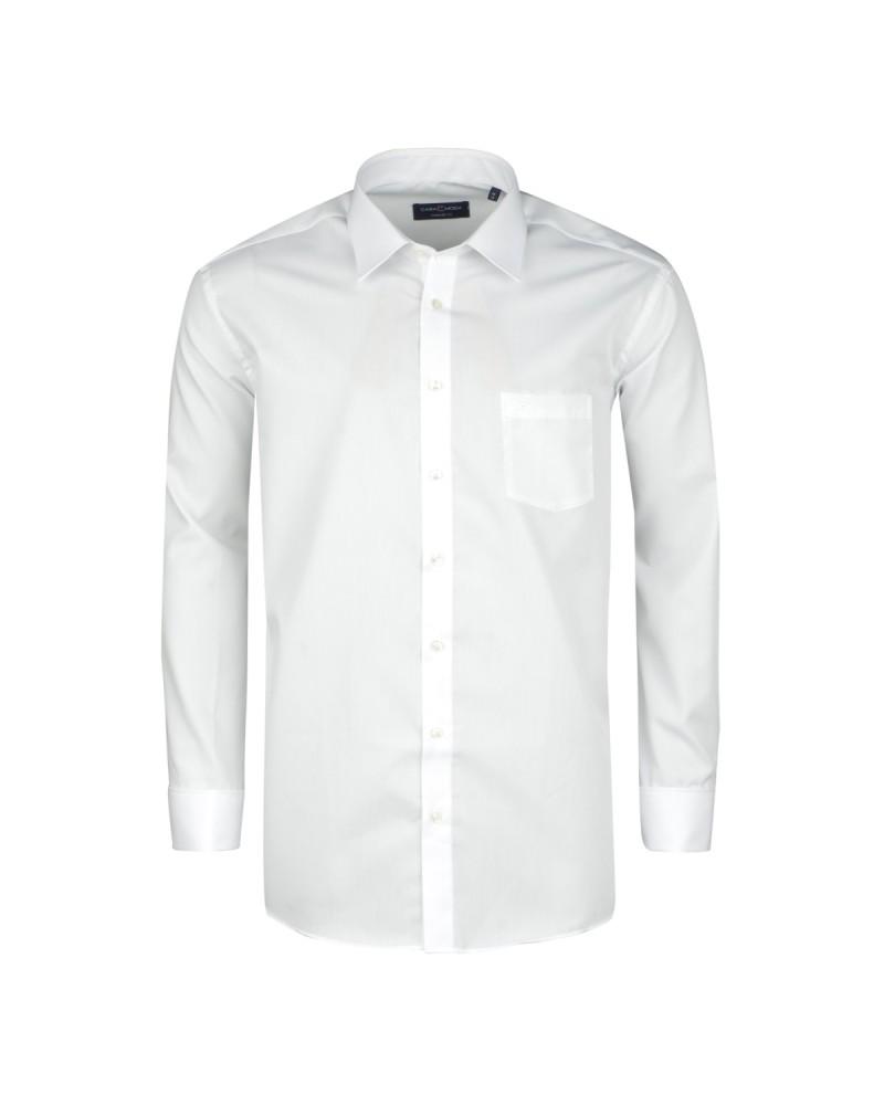 Chemise cérémonie blanche : grande taille du 44 (XL) au 54 (6XL)