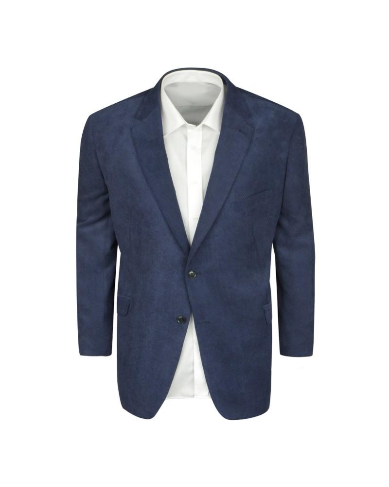 Veste en velours bleu marine: grande taille du 62 au 74