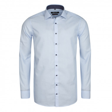 Chemise micro rayures blanc cintrée: manches extra-longues 72cm