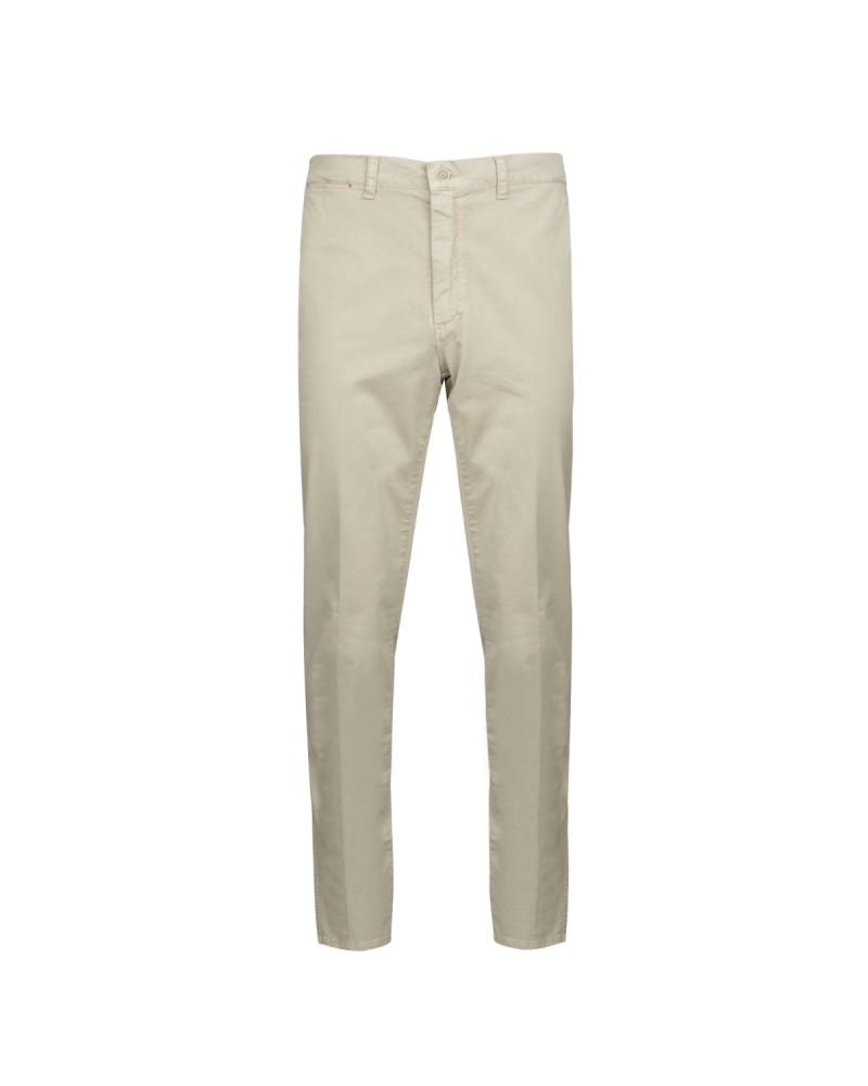 Pantalon chino coton pima beige: grande longueur de jambe 38US
