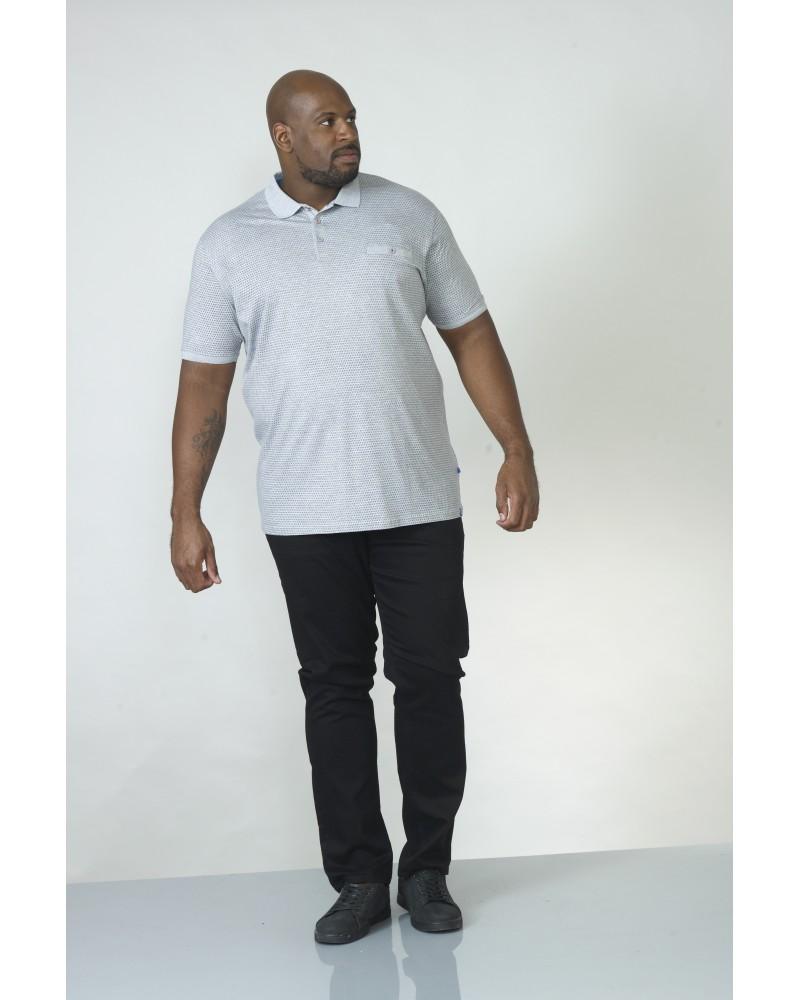 Polo gris : grande taille du 2XL au 6XL