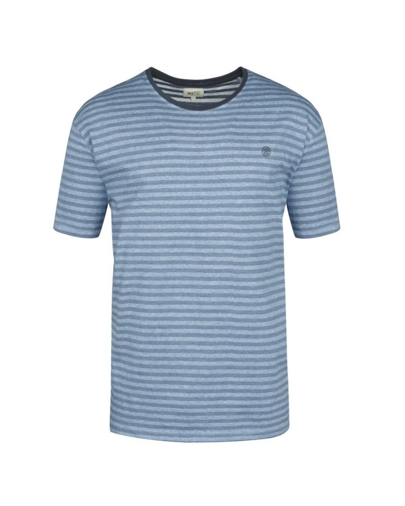 Tee-shirt à rayures bleu pour Homme Grand : du M au 2XL
