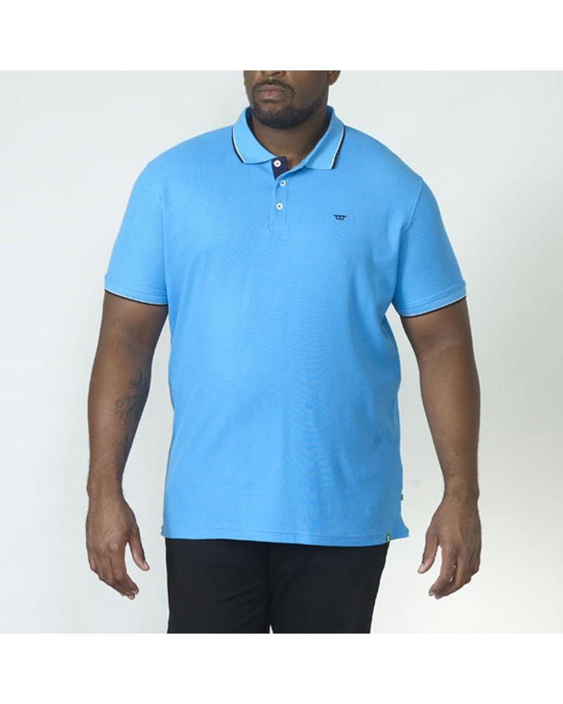 Polo turquoise : grande taille du 2XL au 6XL