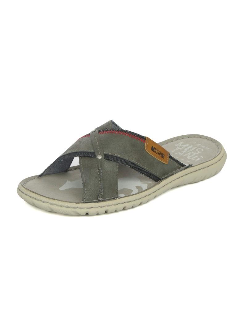 Sandales bimatière gris: grande taille du 47 au 50