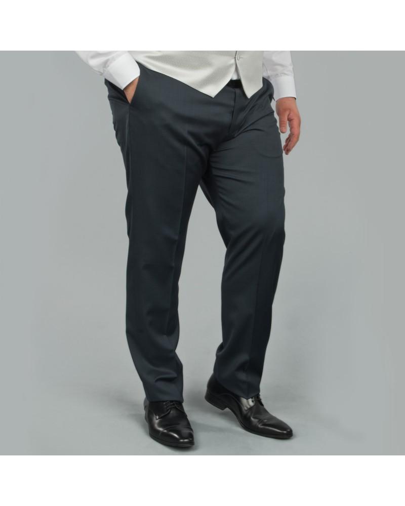 Pantalon de costume Reda bleu marine: grande taille du 52 au 66