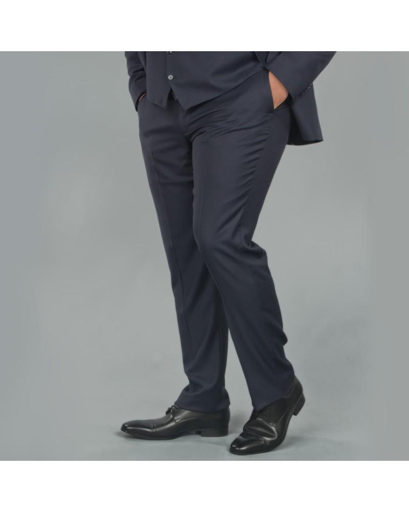 Pantalon de costume bleu: grande taille du 54 au 64