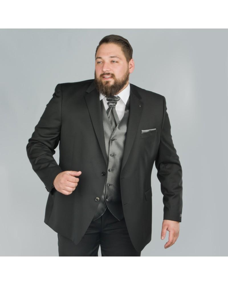 Veste de costume Reda noir : grande taille du 58 au 64