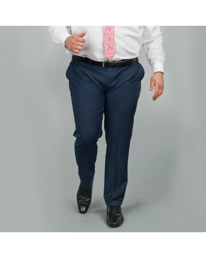 Pantalon de costume bleu: grande taille du 50 au 74