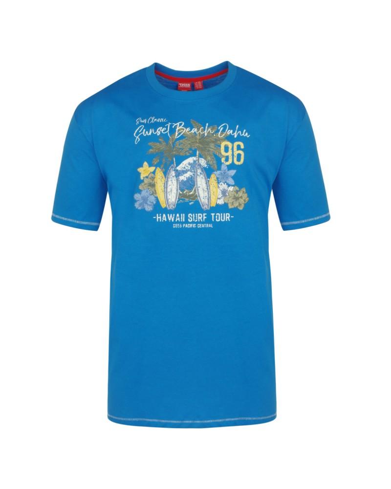 Tee-shirt bleu roi : grande taille du 2XL au 6XL