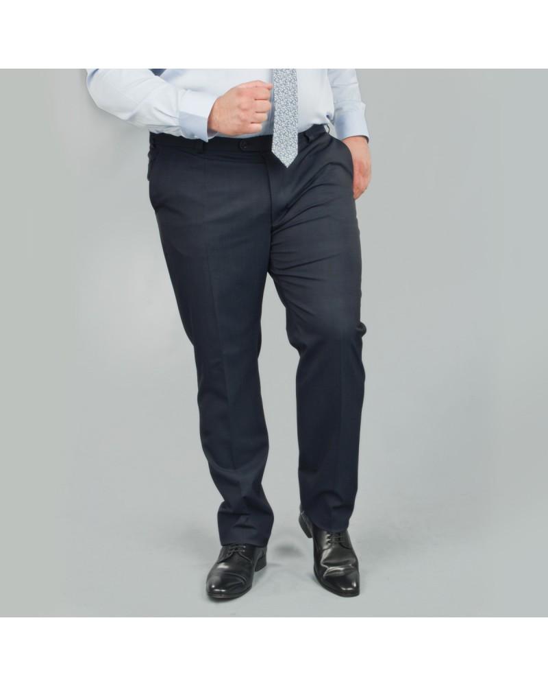 Pantalon de costume bleu marine: grande taille du 52 au 70
