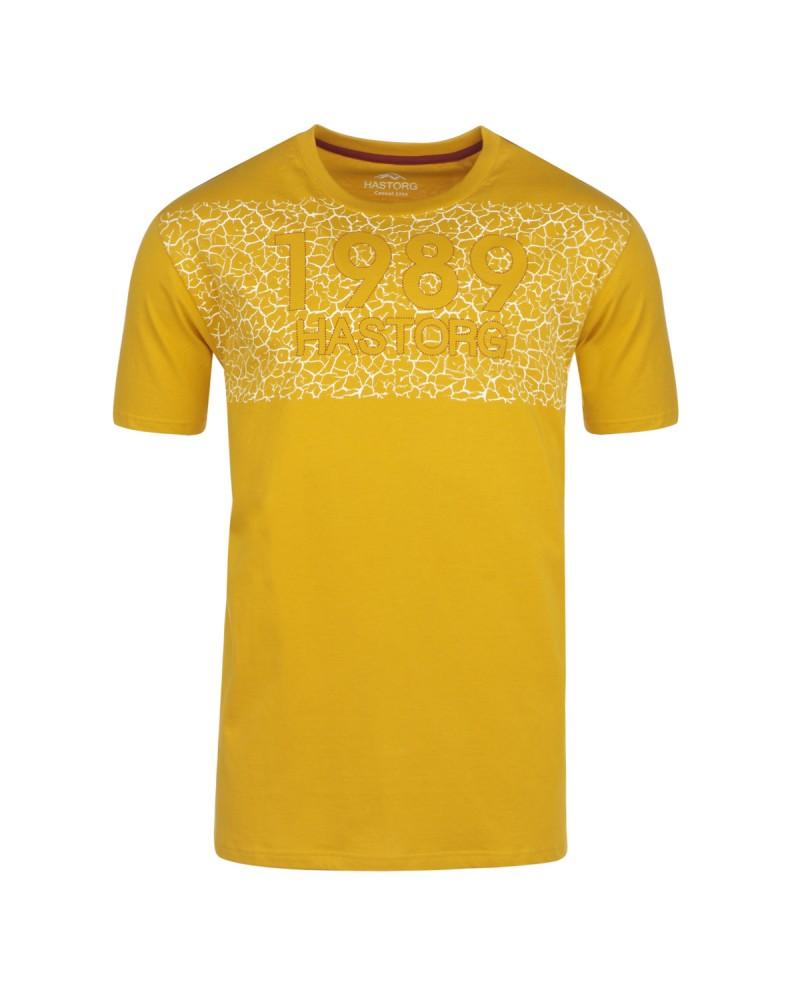 Tee-shirt imprimé moutarde: grande taille du 2XL au 6XL