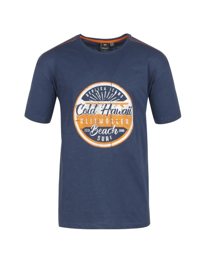 Tee-shirt Hawaii bleu marine: grande taille du 2XL au 8XL