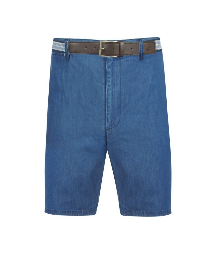 Short avec ceinture bleu indigo: grande taille jusqu'au 64FR (50US)