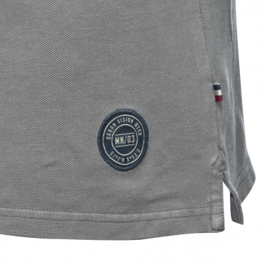 Polo manches longues MN03 grande taille gris