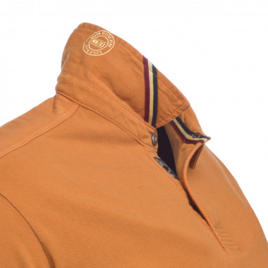 Polo manches longues MN03 grande taille jaune