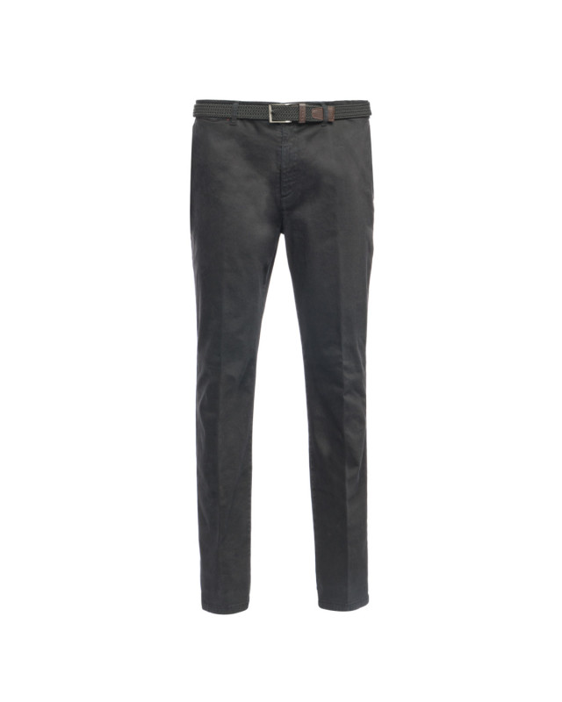 Pantalon chino avec ceinture 1214 noir grande taille