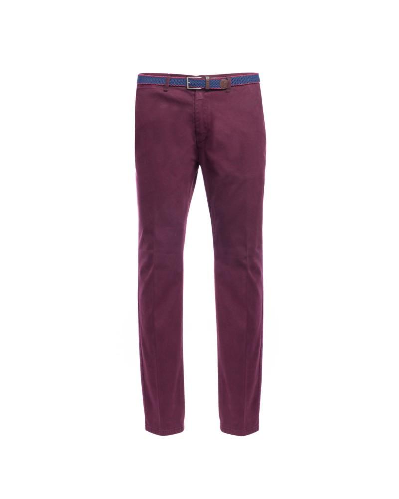 Pantalon chino avec ceinture 1214 bordeaux grande taille
