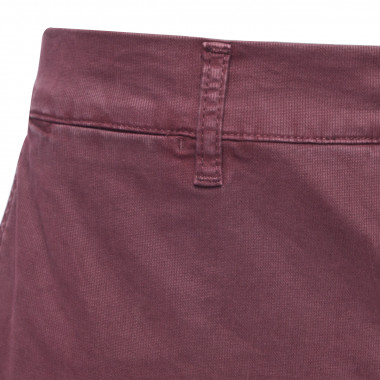 Pantalon chino aspect côtelé 1214 bordeaux Homme grand